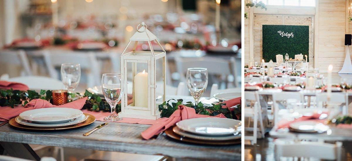 pink Laura + Robert | White Dove Barn Wedding
