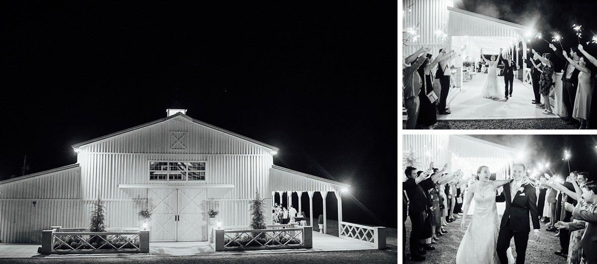 sparkler-exit-white-dove-barn Laura + Robert | White Dove Barn Wedding