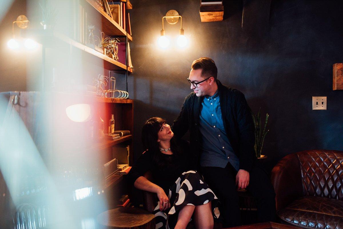 trendy-engagement-photographer East Nashville Bar Engagement Session | Fox Nashville