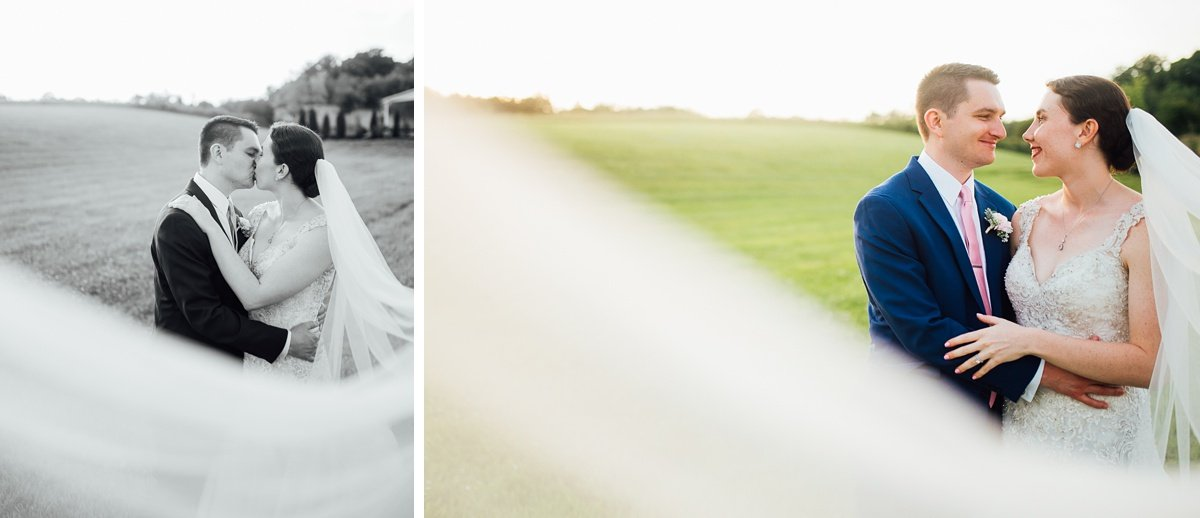 veil-portraits Laura + Robert | White Dove Barn Wedding