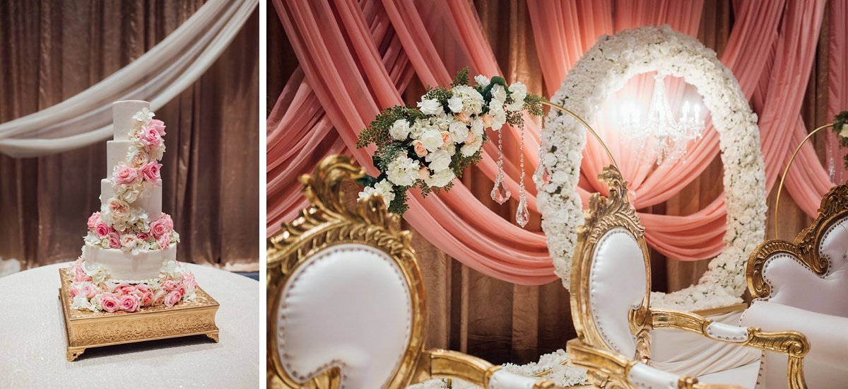 wedding-cake-decor Osama + Sanah   Centennial Park and JW Marriott Wedding
