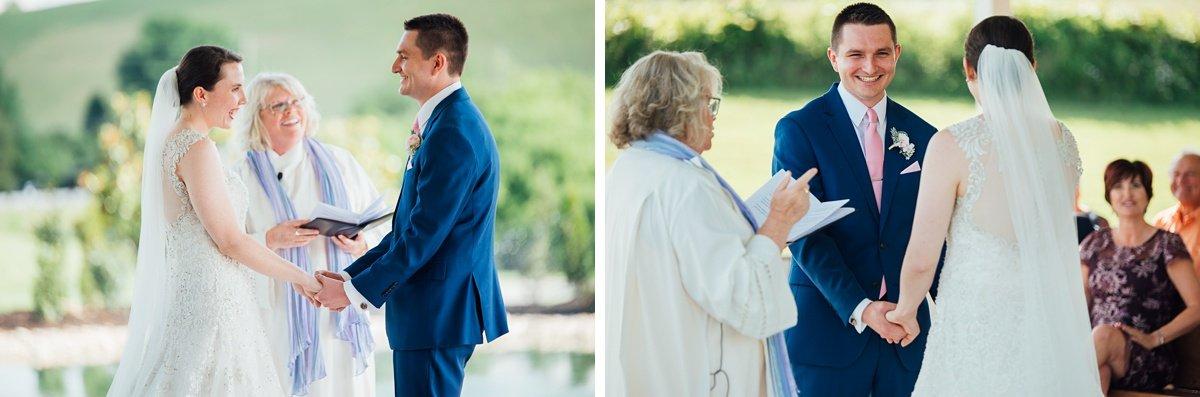 wedding-ceremony Laura + Robert | White Dove Barn Wedding