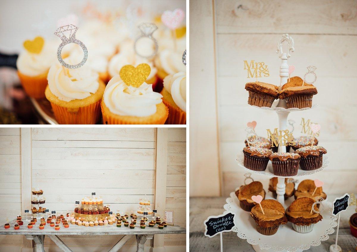 wedding-cupcake Laura + Robert | White Dove Barn Wedding