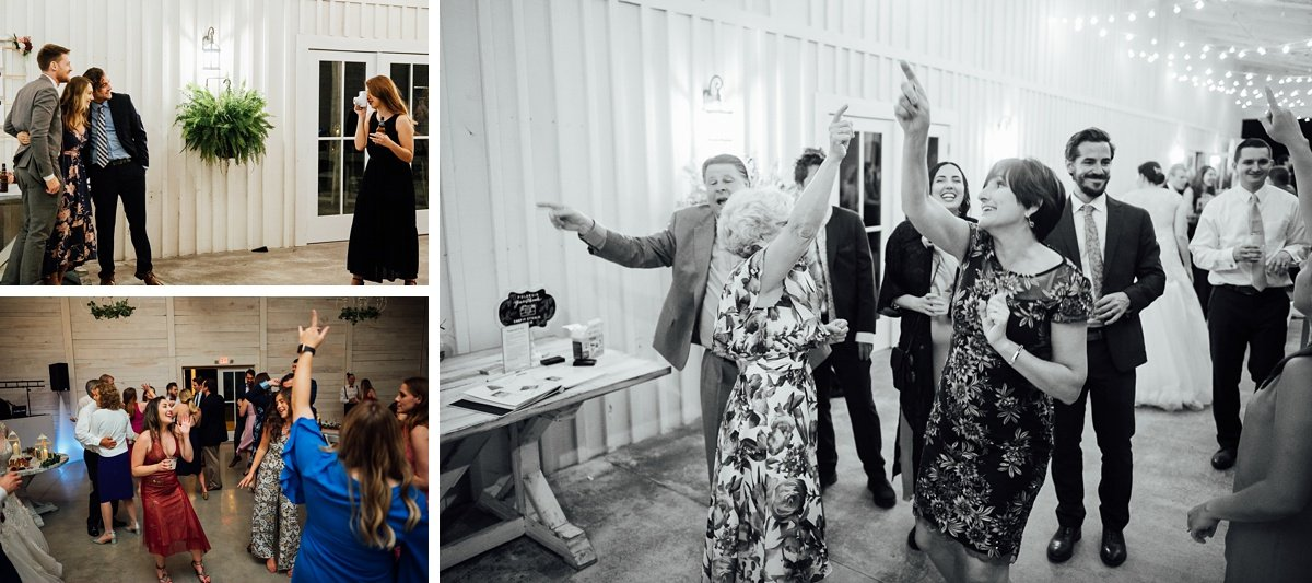 wedding-reception-fun Laura + Robert | White Dove Barn Wedding