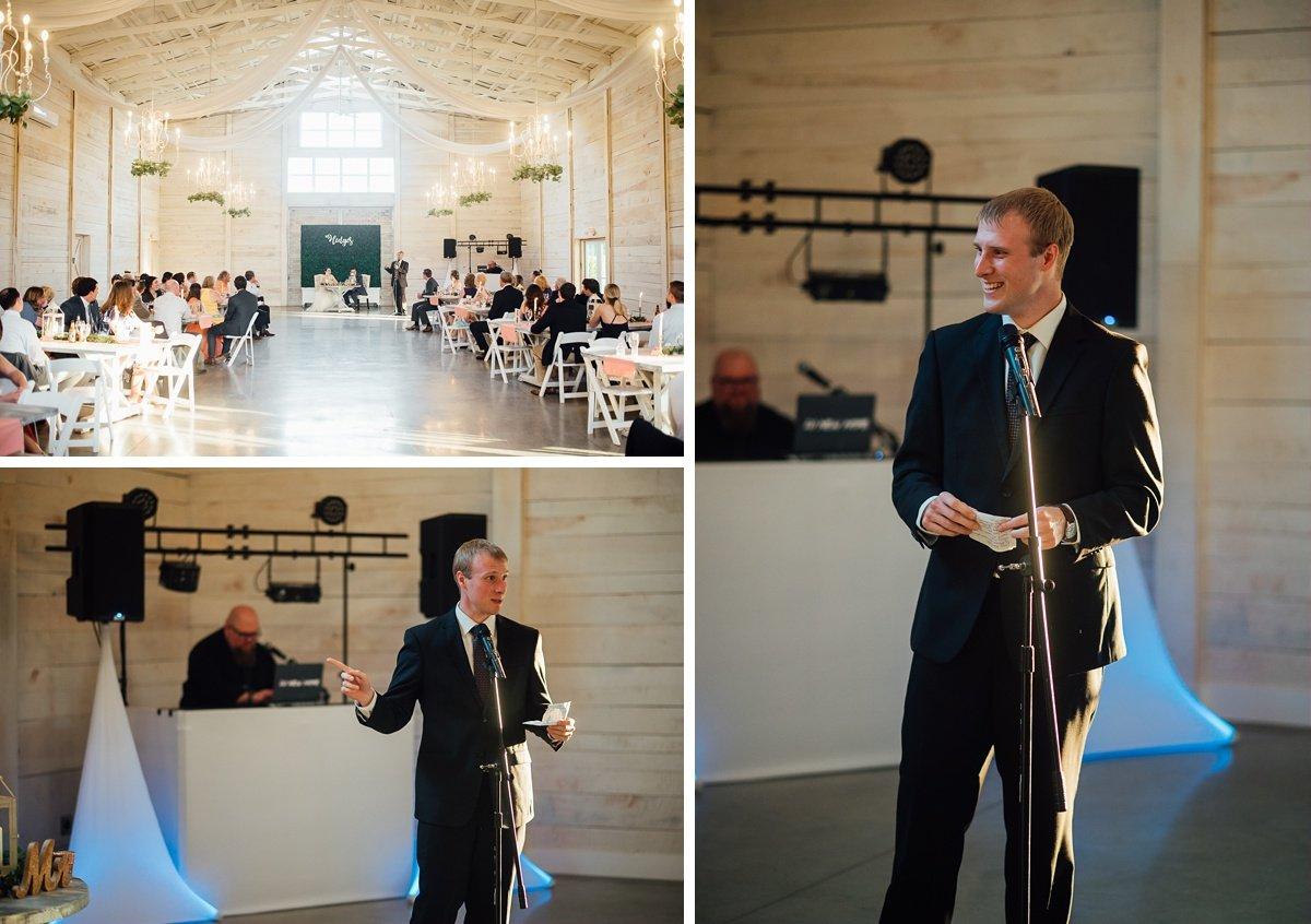 wedding-toasts-1 Laura + Robert | White Dove Barn Wedding