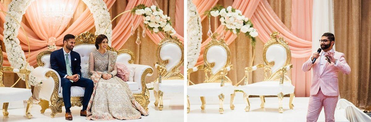 wedding-toasts Osama + Sanah | Centennial Park and JW Marriott Wedding