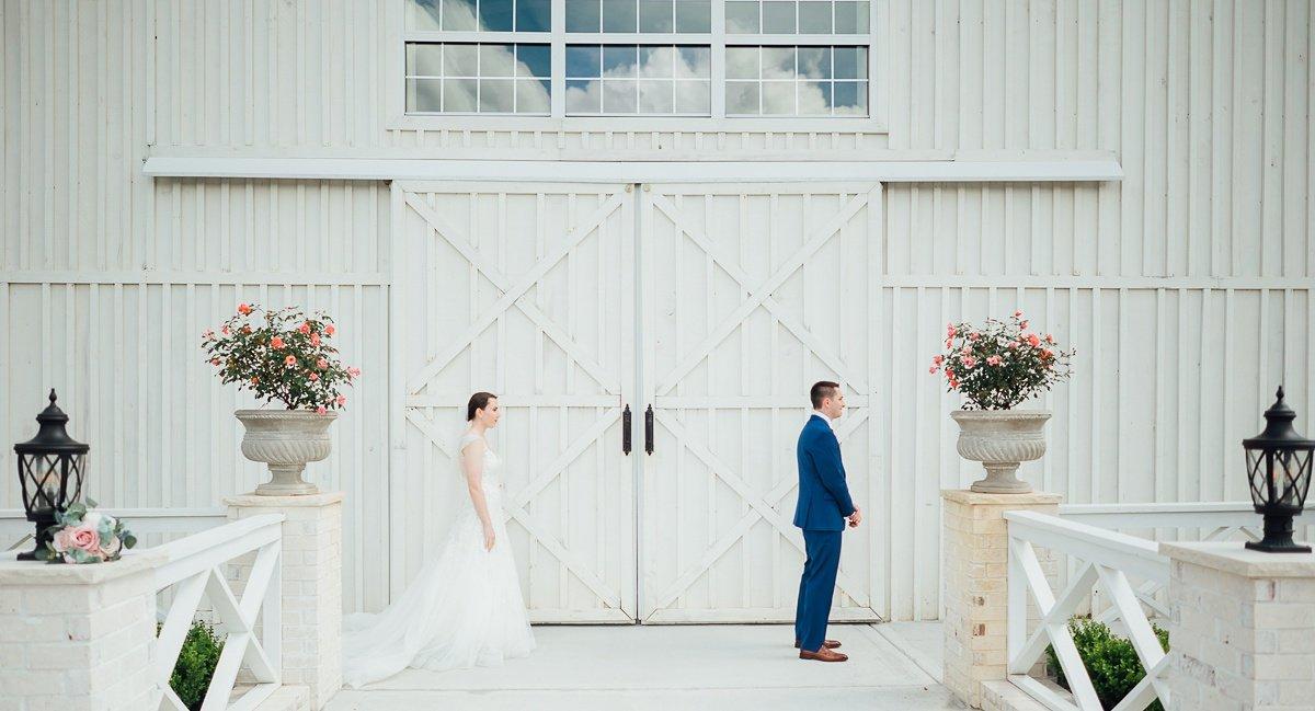 white-dove-barn-first-look Laura + Robert | White Dove Barn Wedding