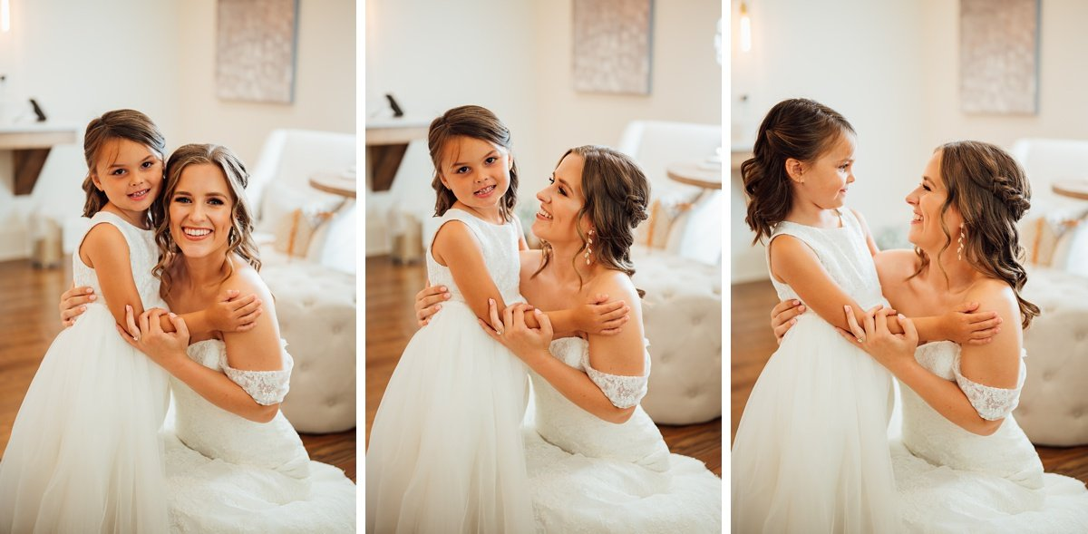 bride-and-flower-girl Jessica + Jethro   The Venue at Birchwood   Spring Hill, TN