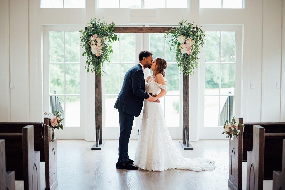 bride-groom-arch Jessica + Jethro   The Venue at Birchwood   Spring Hill, TN