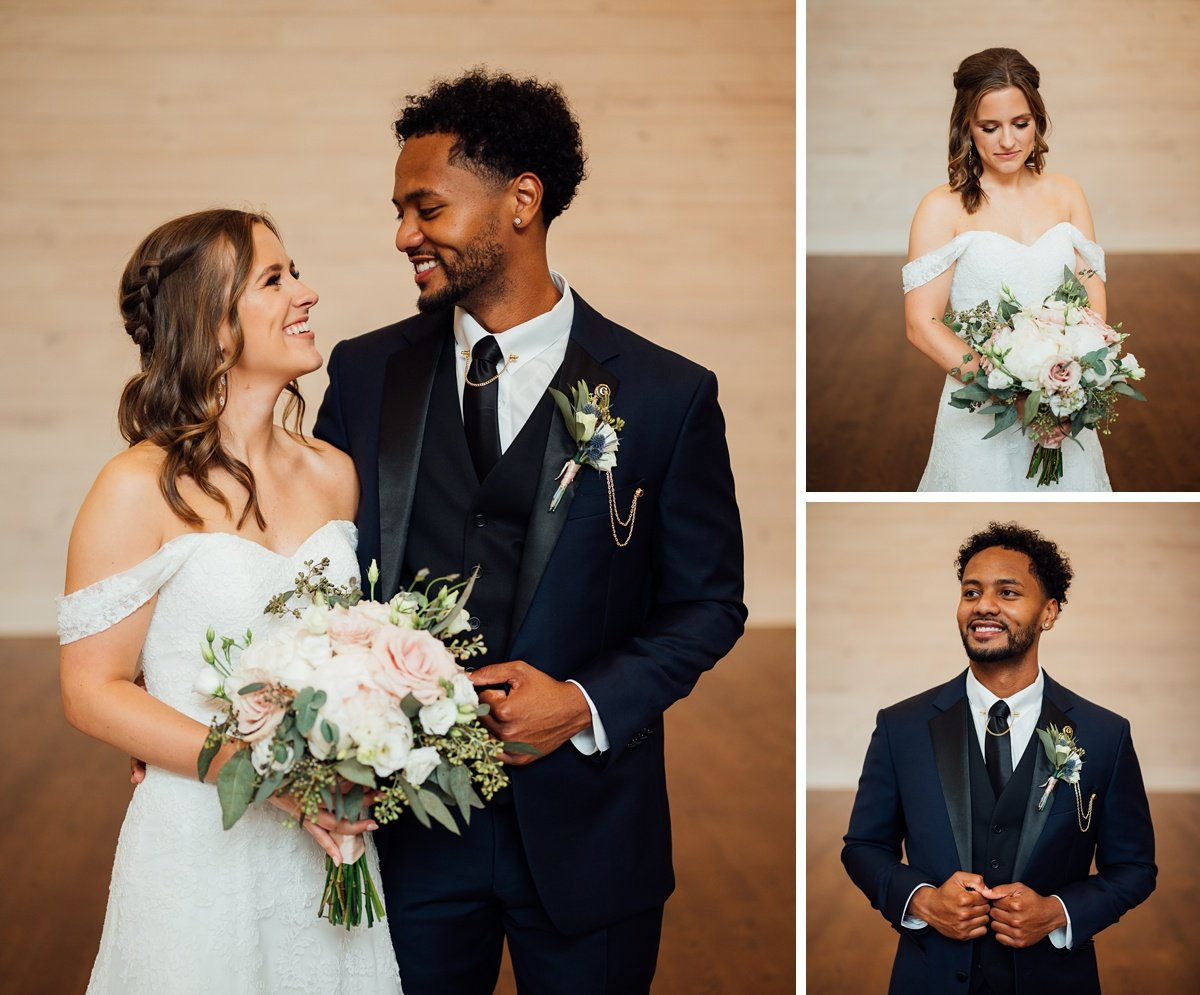 bride-groom-looking Jessica + Jethro   The Venue at Birchwood   Spring Hill, TN