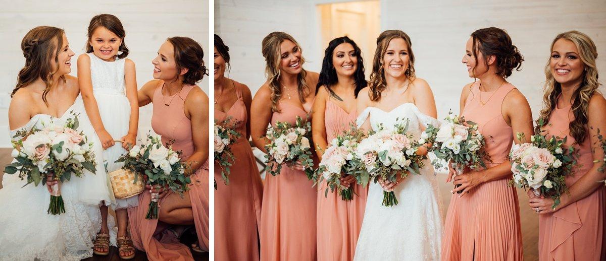 bridesmaids-flower-girl Jessica + Jethro   The Venue at Birchwood   Spring Hill, TN