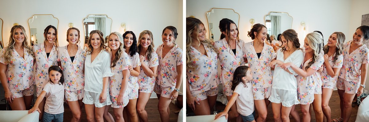 bridesmaids-robes Jessica + Jethro | The Venue at Birchwood | Spring Hill, TN