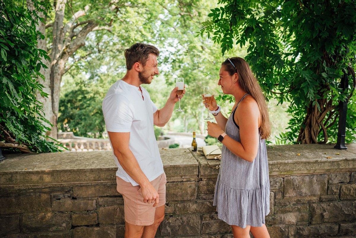 cheekwood-proposal-toast Surprise Proposal at Cheekwood | Patrick and Corrina