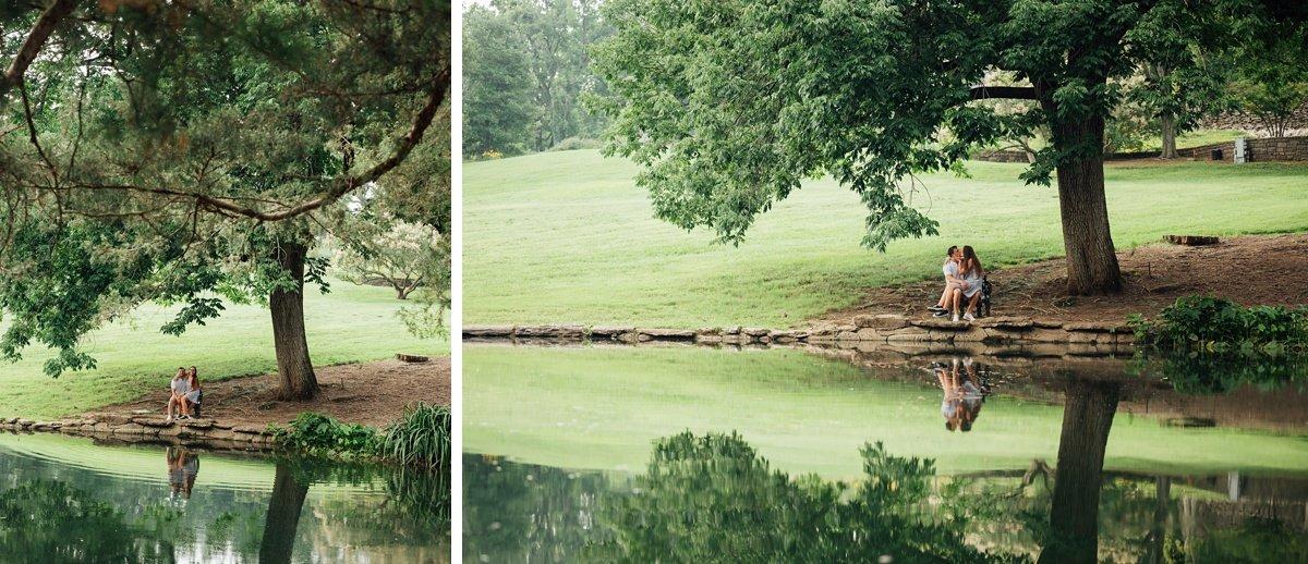 cheekwood-reflection-photos Surprise Proposal at Cheekwood | Patrick and Corrina