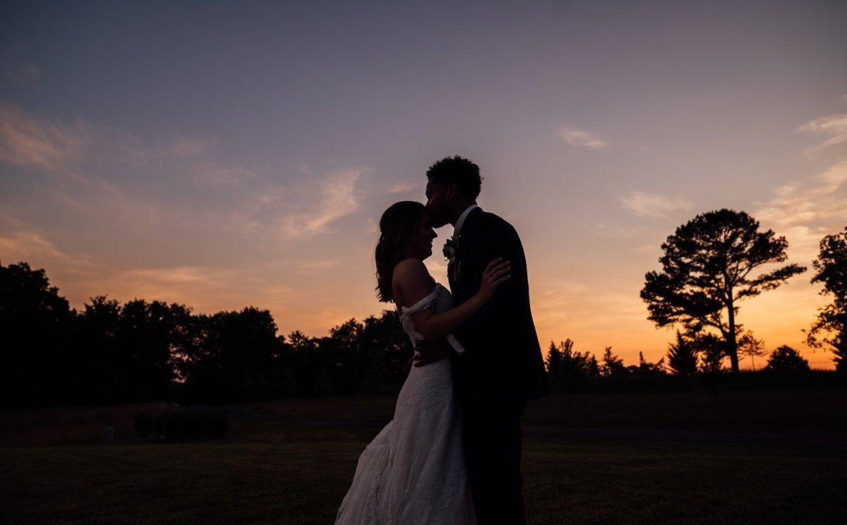 epic-sunset-wedding-photos Jessica + Jethro | The Venue at Birchwood | Spring Hill, TN