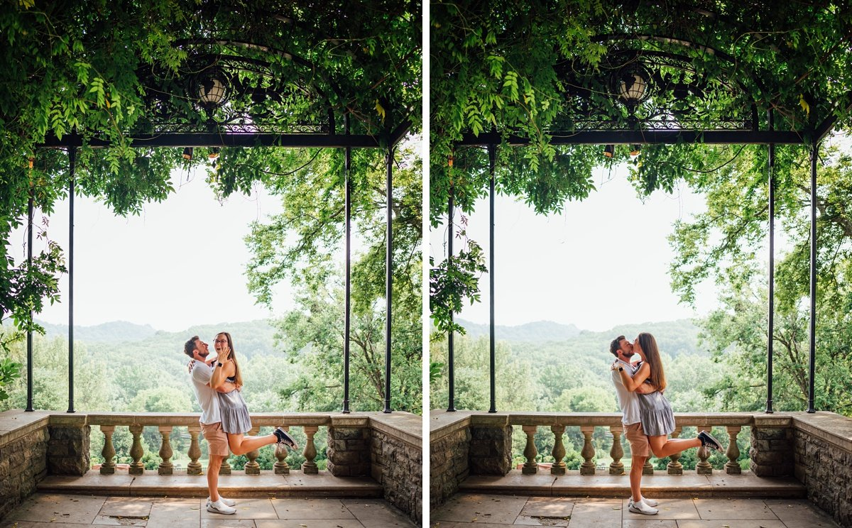 excited-proposal-reaction-jump-kiss Surprise Proposal at Cheekwood | Patrick and Corrina