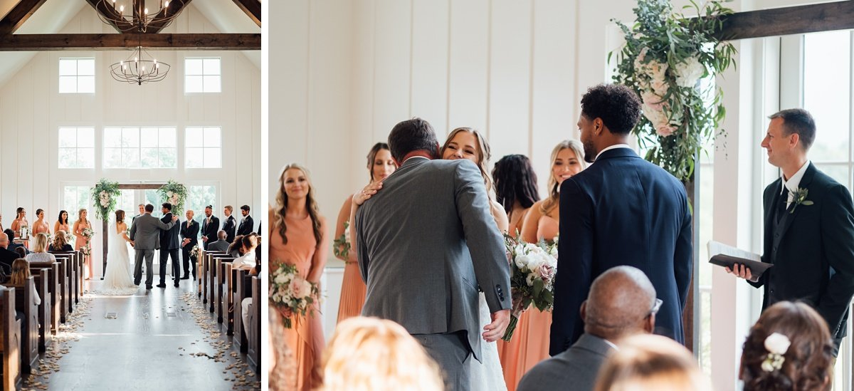 father-giving-away-daughter Jessica + Jethro | The Venue at Birchwood | Spring Hill, TN