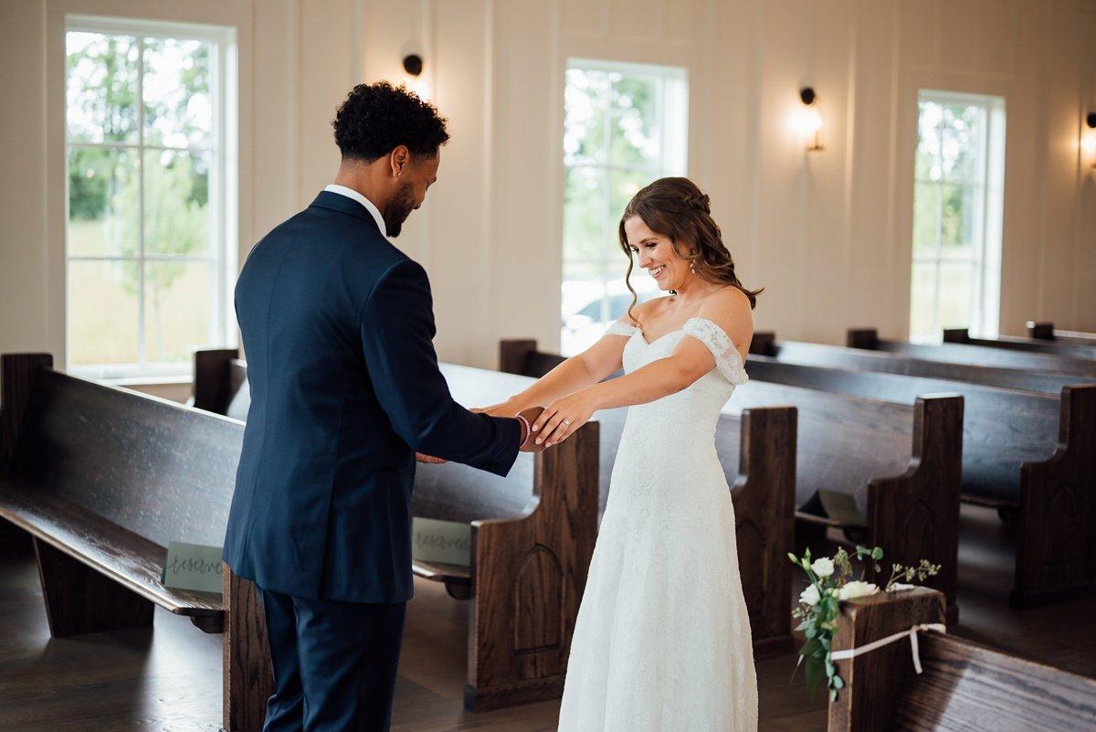 first-look-wedding Jessica + Jethro | The Venue at Birchwood | Spring Hill, TN