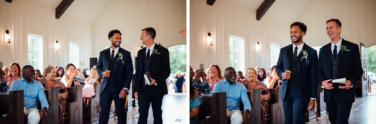 groom-and-pastor Jessica + Jethro   The Venue at Birchwood   Spring Hill, TN