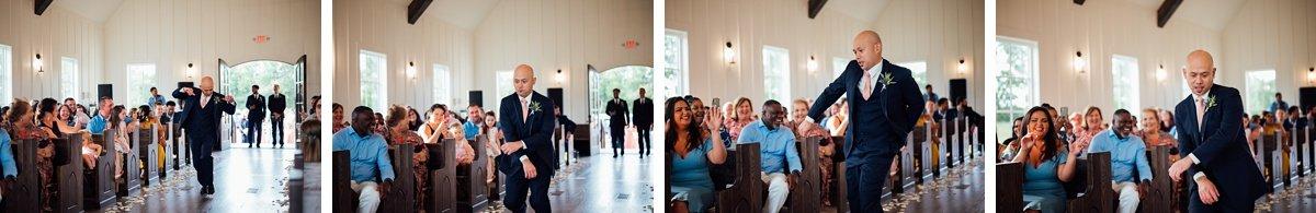 groomsmen-dancing-down-aisle Jessica + Jethro   The Venue at Birchwood   Spring Hill, TN