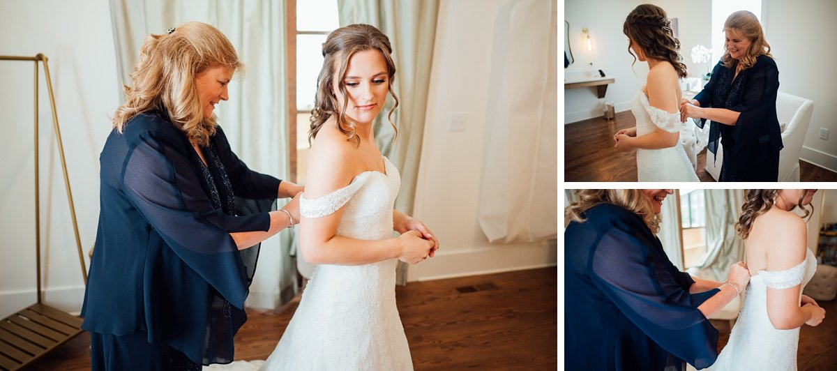 mother-helping-dress Jessica + Jethro | The Venue at Birchwood | Spring Hill, TN
