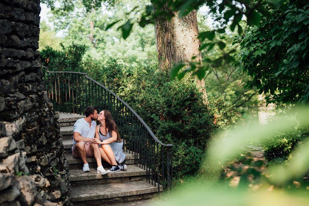 nashville-engagement-photographer Surprise Proposal at Cheekwood | Patrick and Corrina