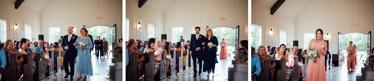 parents-walking-down-aisle Jessica + Jethro   The Venue at Birchwood   Spring Hill, TN