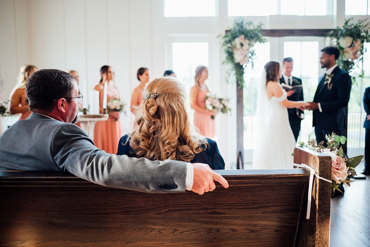 parents-watching-wedding Jessica + Jethro | The Venue at Birchwood | Spring Hill, TN