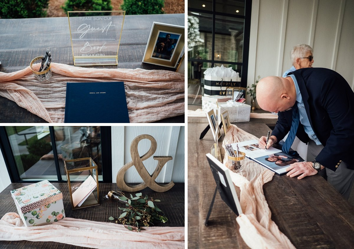 photo-guestbook Jessica + Jethro | The Venue at Birchwood | Spring Hill, TN
