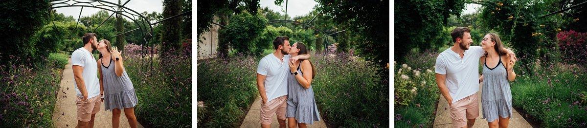 smiling-couple Surprise Proposal at Cheekwood | Patrick and Corrina