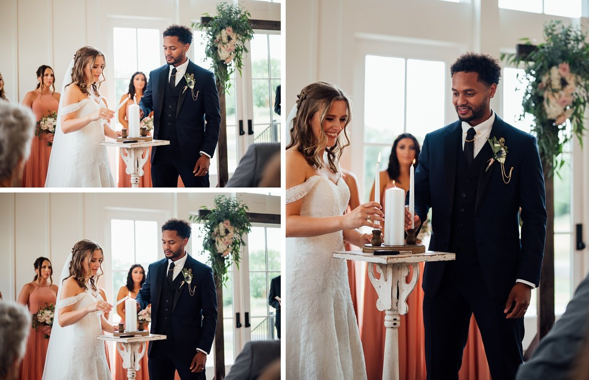 unity-candle-lighting Jessica + Jethro | The Venue at Birchwood | Spring Hill, TN