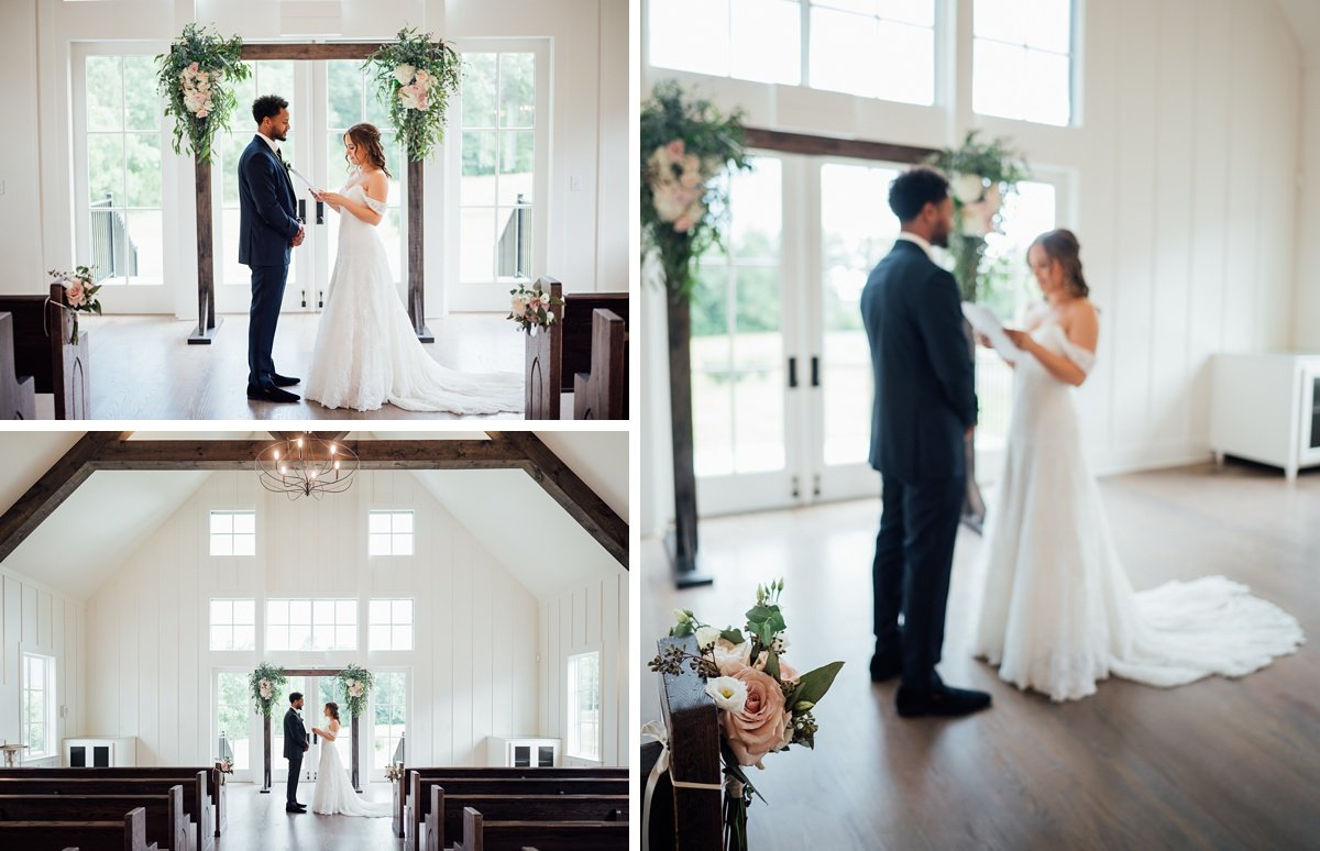 wedding-vows-before-ceremony Jessica + Jethro | The Venue at Birchwood | Spring Hill, TN