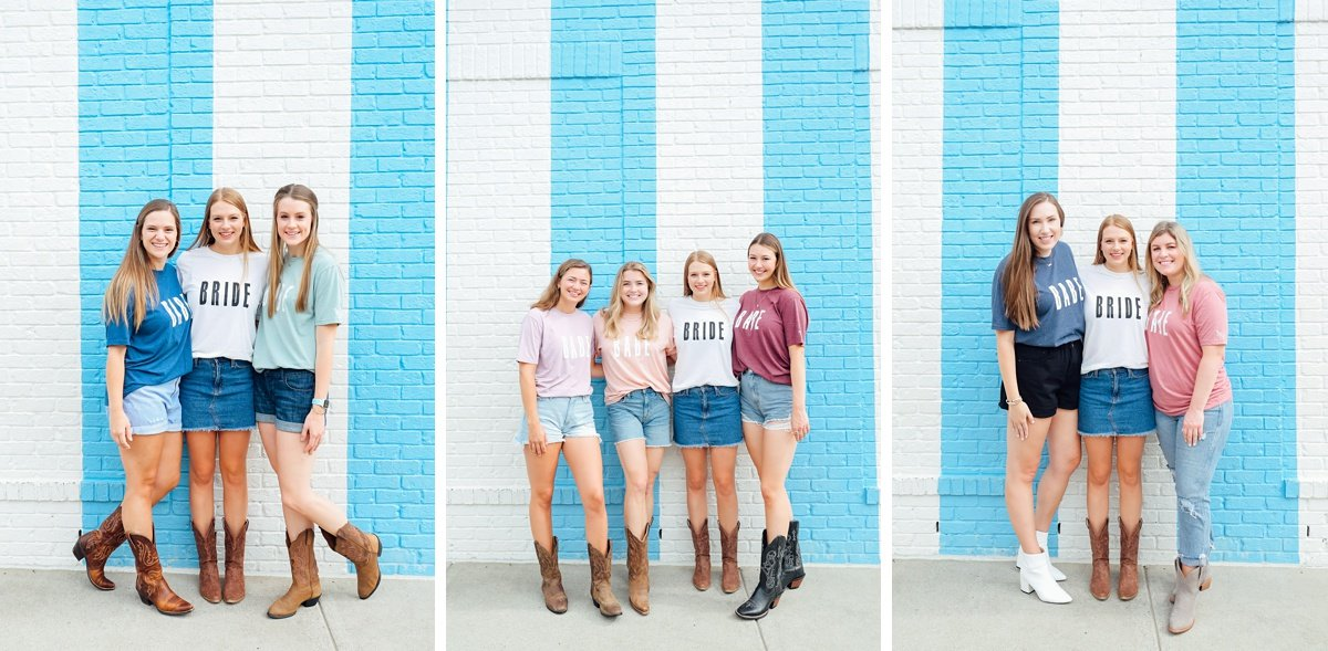 bride-with-college-friends Nashville Bachelorette Weekend Photoshoot