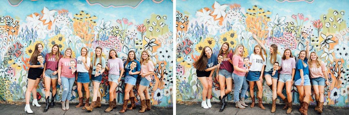 flower-mural-nashville Nashville Bachelorette Weekend Photoshoot